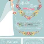 Retro Bridal shower set. — Stock Photo #64494989