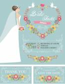 Retro Bridal shower set. — Stock Photo