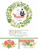 Cute wedding invitation. — Stock Photo