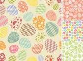 Easter eggs patterns set — Stock Photo