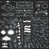 Doodles easter decor elements — Stock Photo