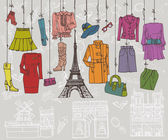 Paris style Fashion clothing — Stock Photo