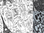 Paris Fashion Clothing  pattern. — Stock Photo