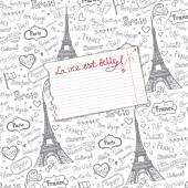 Paris symbols,lettering  background. — Foto Stock