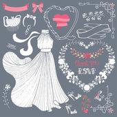 Bridal shower Dress — Stock Photo