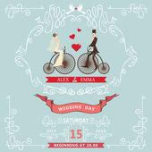 Wedding invitation elements — Stock Photo