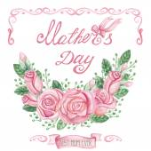 Mothers day Greeting card — Stock Photo