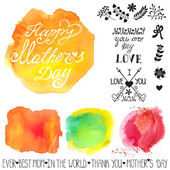 Mothers day Watercolor steins — Stock Photo