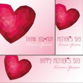 Mothers day cards — Stock Photo