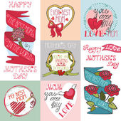 Mothers day cards collection — Stock Photo