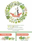 Cute wedding invitation — Stock Photo