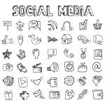 Social Media Icons set. — Stock Photo #73862079