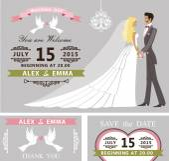 Wedding invitation set. — Stock Photo