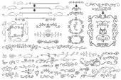 Doodle Floral  border,frame — Stock Photo