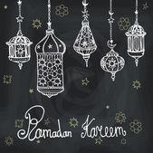 Lantern garland of Ramadan Kareem. — Stock Photo