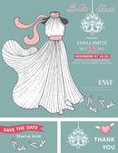 Bridal shower invitation template. — Stock Photo