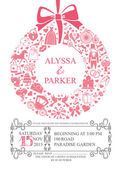 Wedding invitation with wreath composition. — Stock Photo