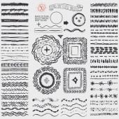 Doodle artistic pattern brushes — Stock Photo