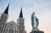 Virgin Mary Statue in Roman Catholic Church — Foto Stock
