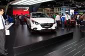 NONTHABURI, THAILAND - MARCH 25: The Mazda3 Skyactiv is on displ — Stock Photo