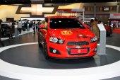 BANGKOK - MARCH 28 : Chevrolet SONIC on display at 35th Bangkok  — Stock Photo