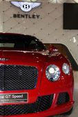GENEVA, MAR 4: Bentley New GT Speed, presented at the 84th Inter — Stock fotografie