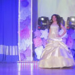 "VINNITSA, UKRAINE - DECEMBER 12: Set the video footage. Showing wedding dresses on stage.Contestants ""Bride of the year 2014"". December 12, 2014 in Vinnitsa, Ukraine. — Stock Video #62760341"