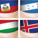 Flags illustration, Haiti, Honduras, Hungary, Iceland — Stock Vector #54066037