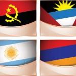 Постер, плакат: Flags illustration Angola Antigua and Barbuda Argentina Armenia