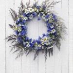 Retro Wreath of flowers — Stock Photo #69292135