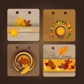 Autumn abstract background. — Stock Vector