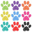 Paw Prints — Stock Vector #52140769