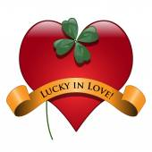Lucky in love — Stock Vector