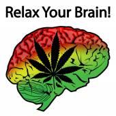 Relax Your Brain — Stock Vector