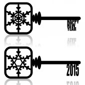 Unlock New Year — Vecteur