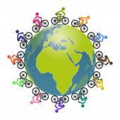 Cycling — Vector de stock