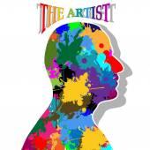 Der Künstler — Stockvektor
