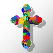 Colorful cross — Stock Vector