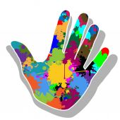 Colorful hand — Stock Vector