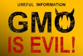 GMO is evil — Stock Vector