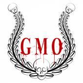GMO emblem — Wektor stockowy
