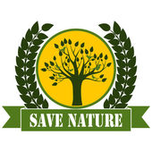 Save Nature — Stock Vector