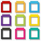 Frame set — Stock Vector