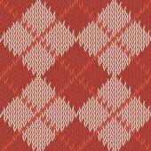 Background seamless pattern texture of red with beige square woo — Stock Vector