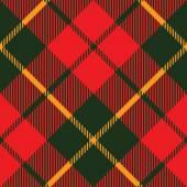 Tartan fabric texture diagonal pattern seamless — Stock Vector