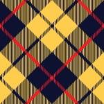 Blue orange tartan fabric texture diagonal pattern seamless — Stock Vector #63761235