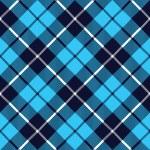 Blue tartan fabric texture diagonal little pattern seamless — Stock Vector #63761281