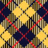 Blue orange tartan fabric texture diagonal pattern seamless — Stock Vector