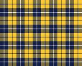 Blue orange tartan fabric texture pattern seamless — Stock Vector
