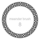 Frame round ornament meander pattern — Stock Vector